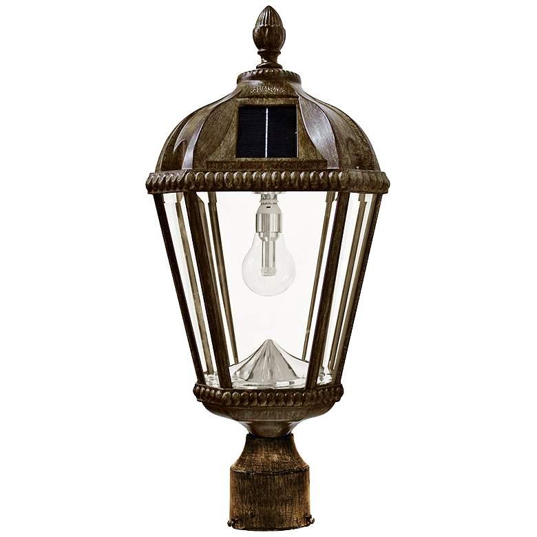 "Royal Bulb 18""H Bronze Outdoor Solar LED Post-Mount"