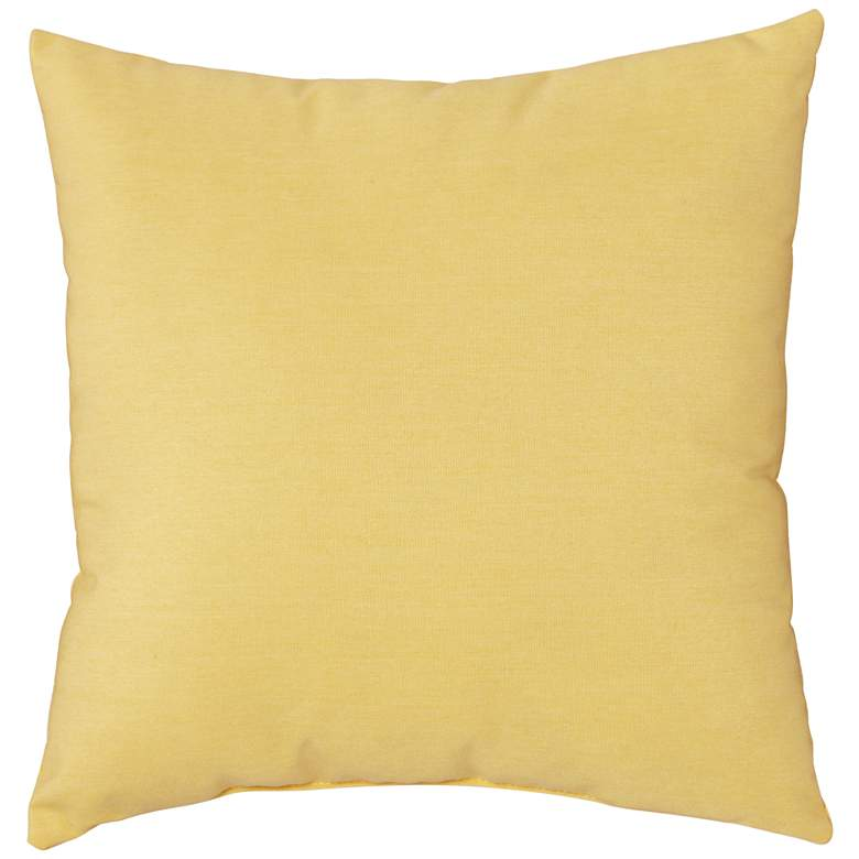 "Sunbrella Buttercup Canvas 18"" Square Indoor-Outdoor Pillow"