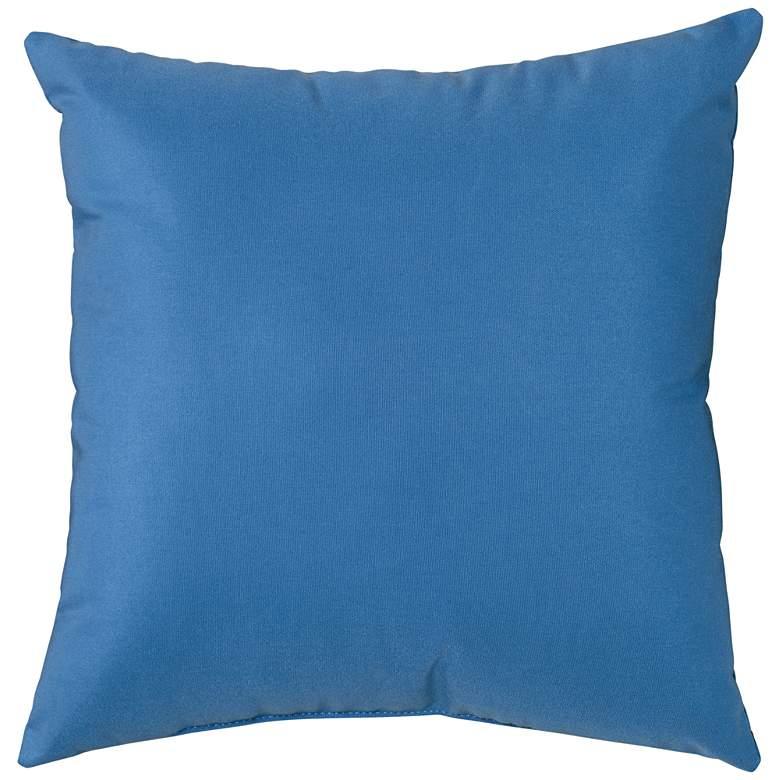 """Sunbrella Capri Blue Canvas 18"""" Square Indoor-Outdoor Pillow"""