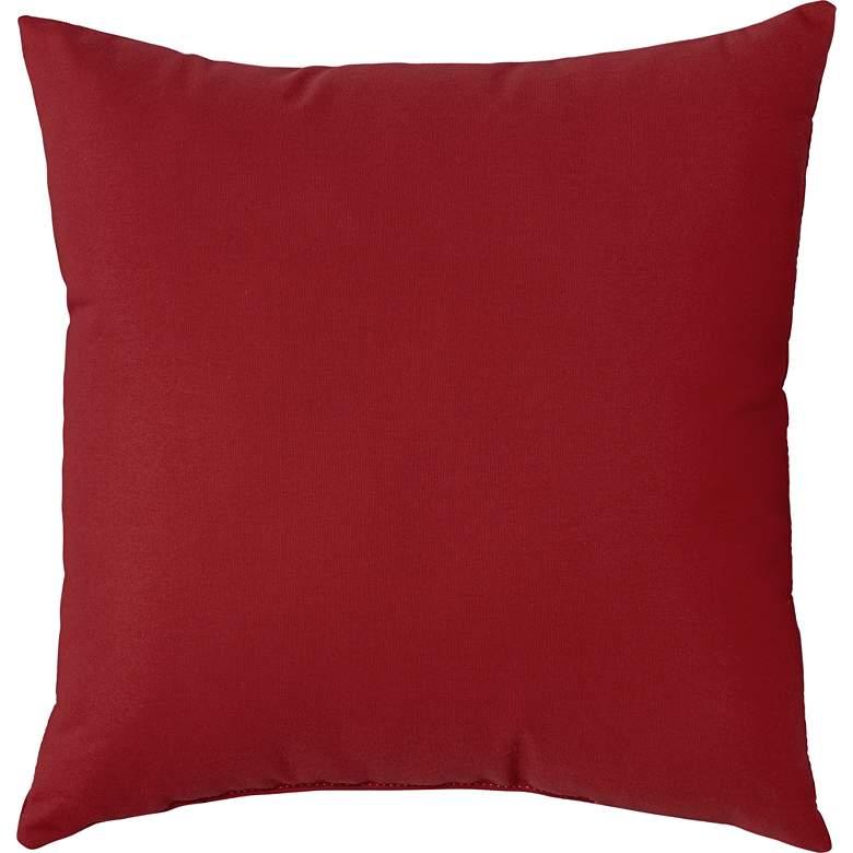 "Sunbrella Jockey Red Canvas 18"" Square Indoor-Outdoor Pillow"