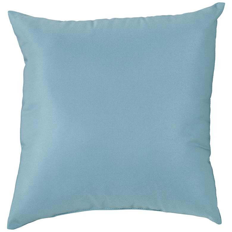 "Sunbrella Mineral Blue 18"" Square Indoor-Outdoor Pillow"