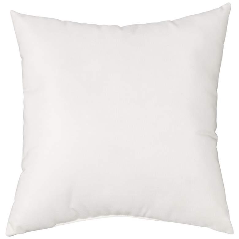 "Sunbrella Natural Canvas 18"" Square Indoor-Outdoor Pillow"