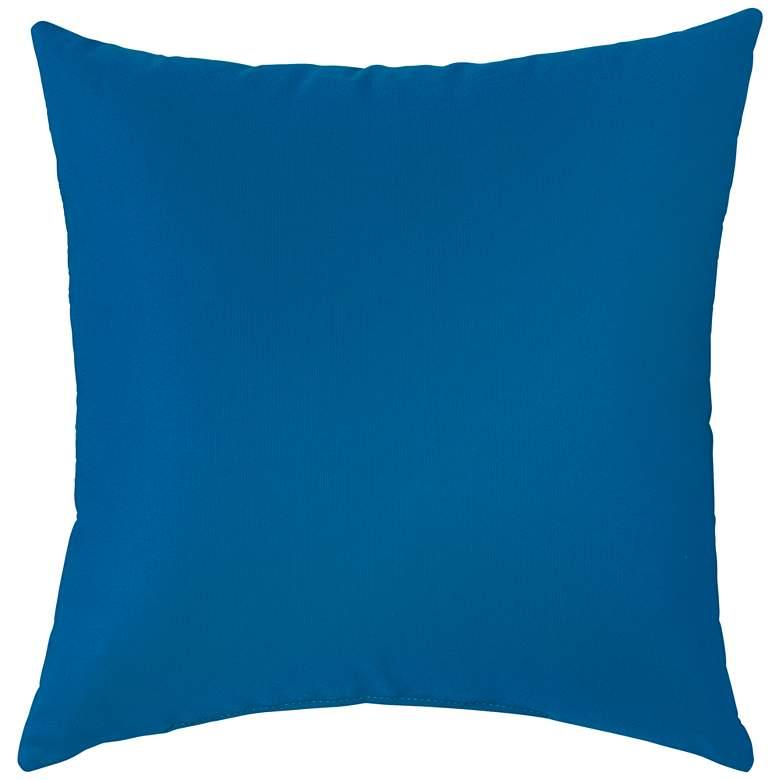 """Sunbrella Pacific Blue 18"""" Square Indoor-Outdoor Pillow"""