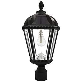 Royal Bulb 18 H Black Solar Led Outdoor Pier Mount Lamp