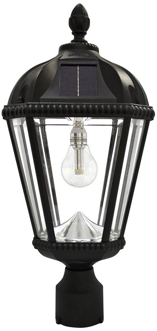 Royal Bulb 18 H Black Solar LED Outdoor Pier-Mount L&  sc 1 st  L&s Plus & Solar Post Light Outdoor Lighting | Lamps Plus
