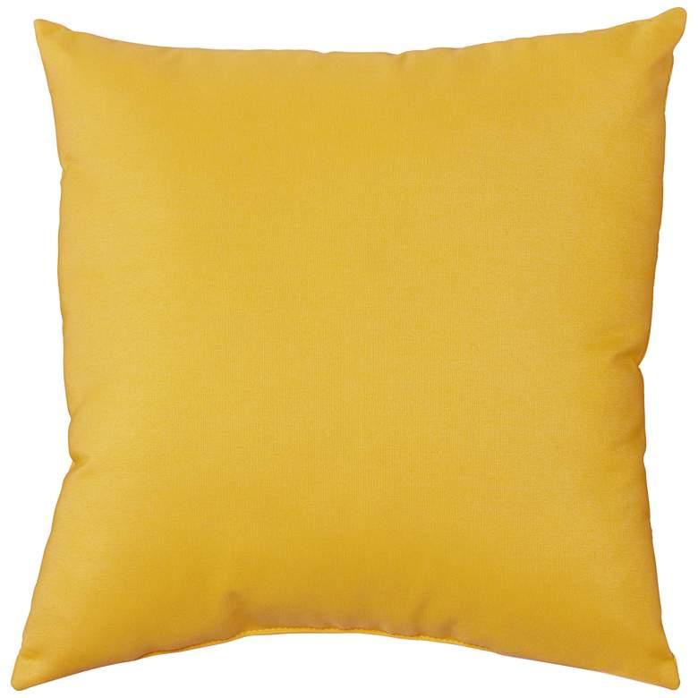 """Sunbrella Sunflower Canvas 18"""" Square Indoor-Outdoor Pillow"""