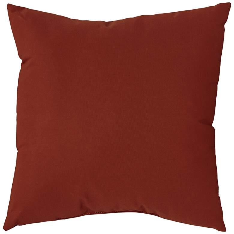 """Sunbrella Terracotta Canvas 18"""" Square Indoor-Outdoor Pillow"""
