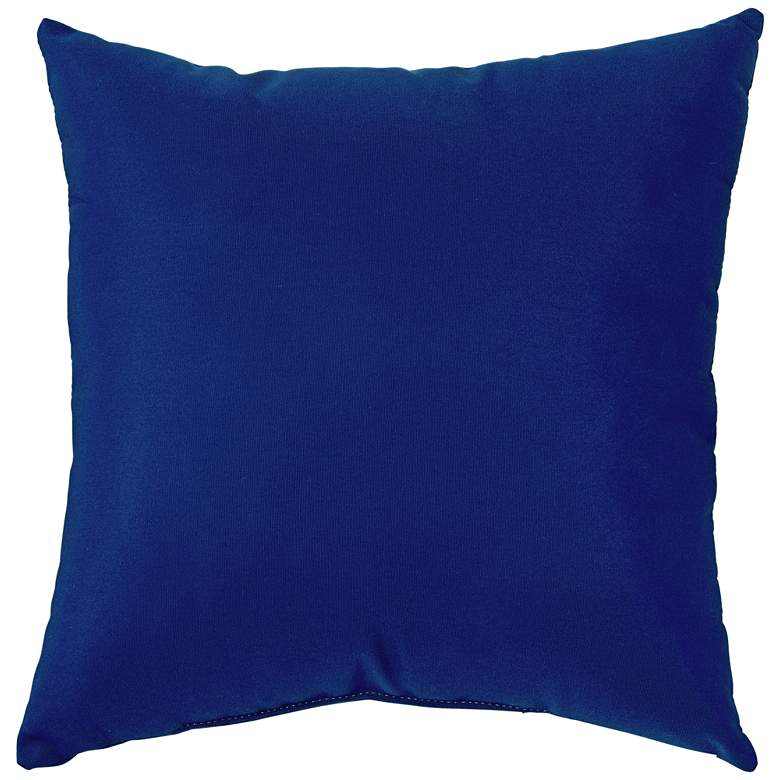 "Sunbrella True Blue Canvas 18"" Square Indoor-Outdoor Pillow"