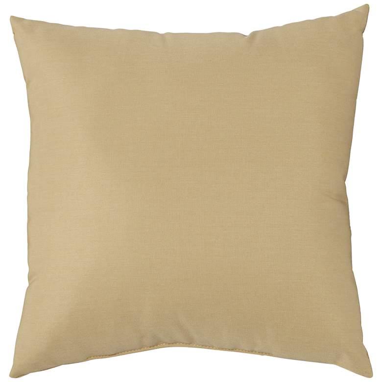 "Sunbrella Wheat Canvas 18"" Square Indoor-Outdoor Pillow"