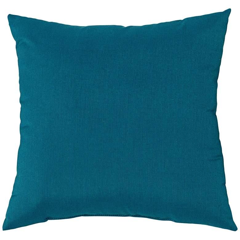 """Sunbrella Peacock Spectrum 18"""" Square Indoor-Outdoor Pillow"""