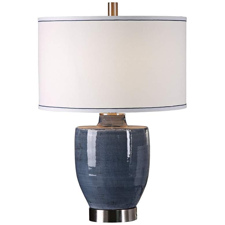 Uttermost Sylvaine Crackle Blue-Gray Ceramic Table Lamp