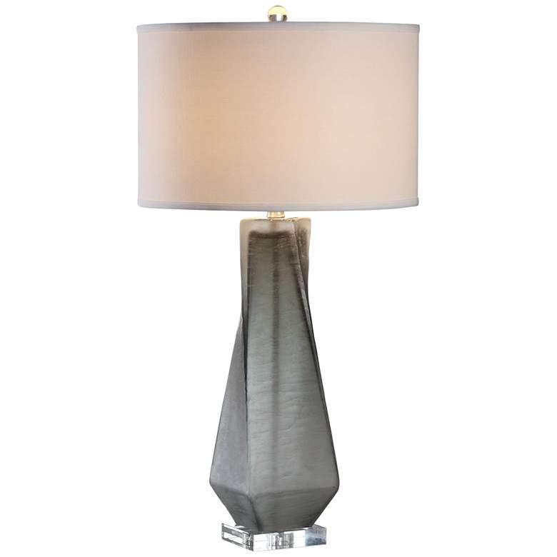 Uttermost Annatoli Unpolished Charcoal Glass Table Lamp