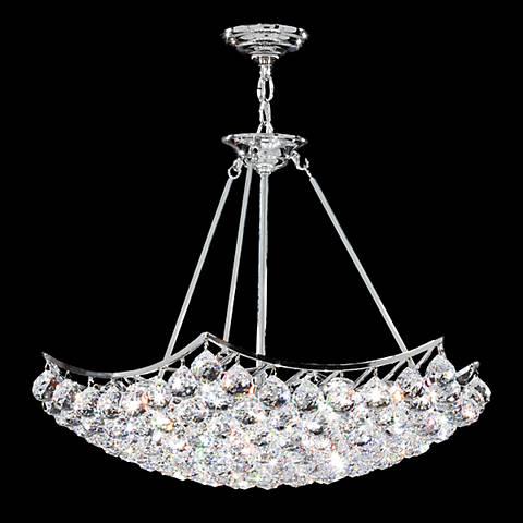 "James Moder Cascade 26"" Wide Silver Crystal Chandelier"
