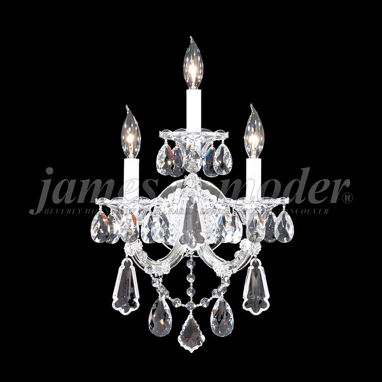 "Maria Theresa Royal 19""H Silver 3-Light Crystal Wall"