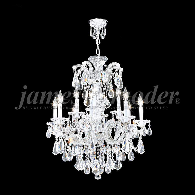 """Maria Theresa Royal 26""""W Silver 12-Light Crystal Chandelier"""