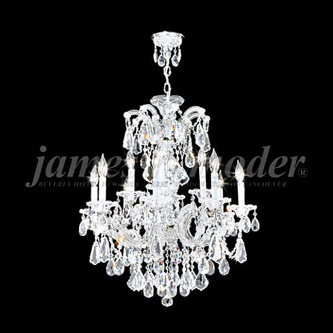 "Maria Theresa Royal 26""W Silver 12-Light Crystal Chandelier"
