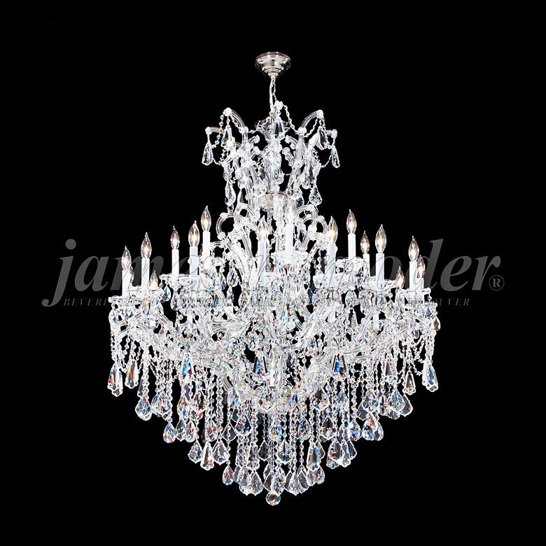 """Maria Theresa Royal 46""""W Silver 25-Light Crystal Chandelier"""