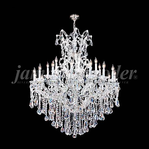 "Maria Theresa Royal 46""W Silver 25-Light Crystal Chandelier"
