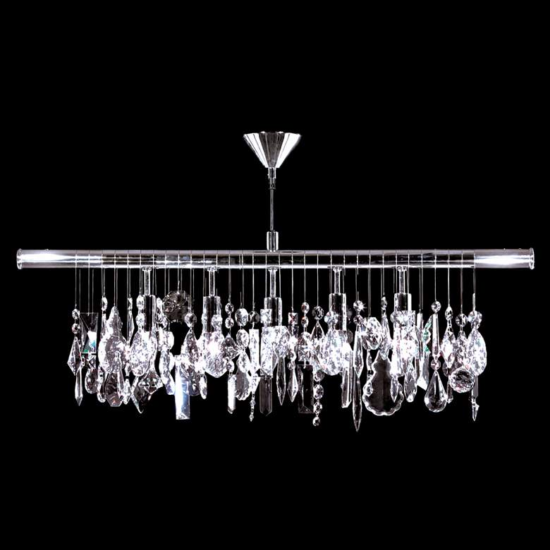 "Contemporary 38""W Crystal Kitchen Island Light Chandelier"