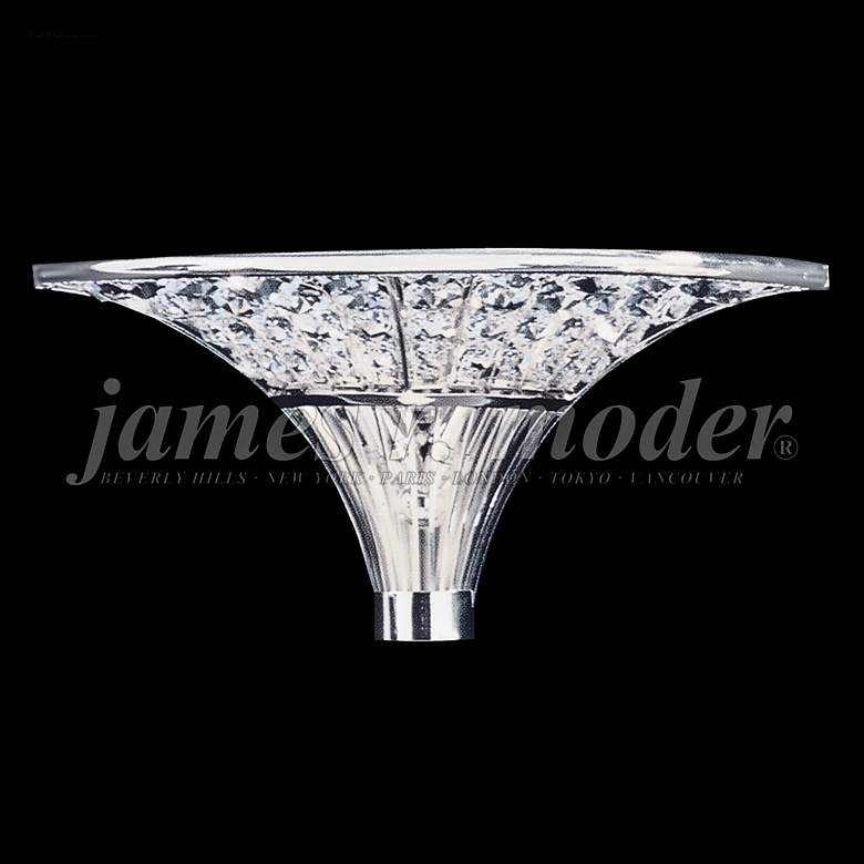 """James Moder Contemporary 6"""" High Silver Crystal Wall Sconce"""