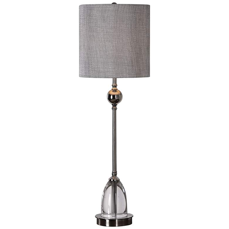 Uttermost Gallo Polished Nickel Tall Goblet Table Lamp