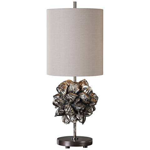 Uttermost Nipa Palm Golden Champagne Fruit Table Lamp