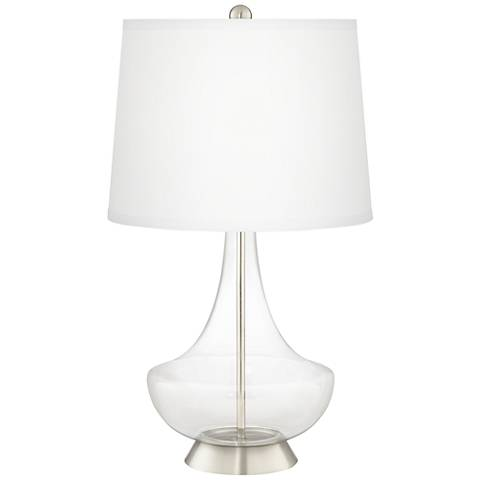 Clear Fillable Gillan Glass Table Lamp