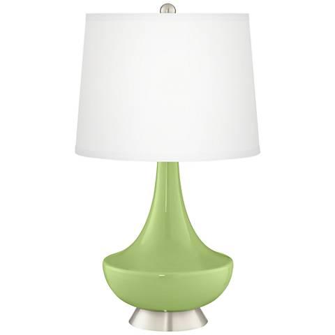 Lime Rickey Gillan Glass Table Lamp