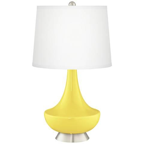 Lemon Twist Gillan Glass Table Lamp