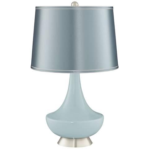 Rain Satin Blue Shade Gillan Glass Table Lamp