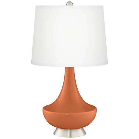 Robust Orange Gillan Glass Table Lamp