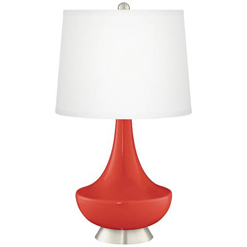 Cherry Tomato Gillan Glass Table Lamp