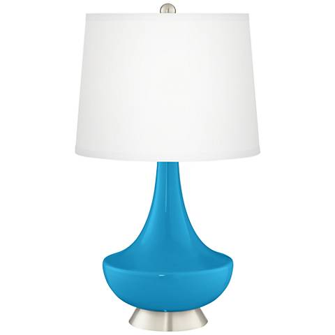 River Blue Gillan Glass Table Lamp