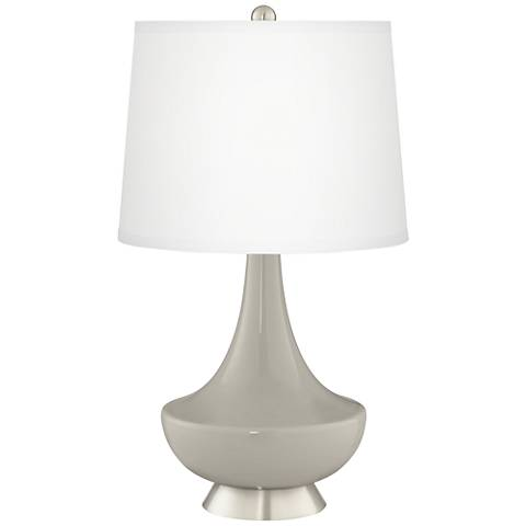 Requisite Gray Gillan Glass Table Lamp