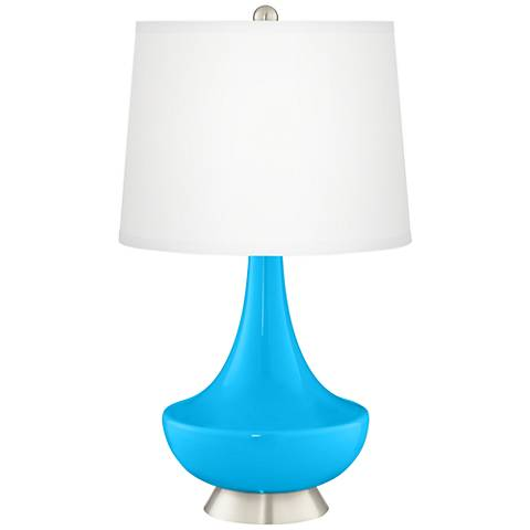 Sky Blue Gillan Glass Table Lamp
