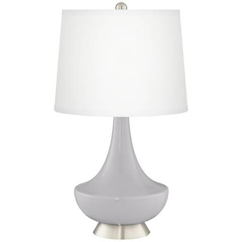 Swanky Gray Gillan Glass Table Lamp