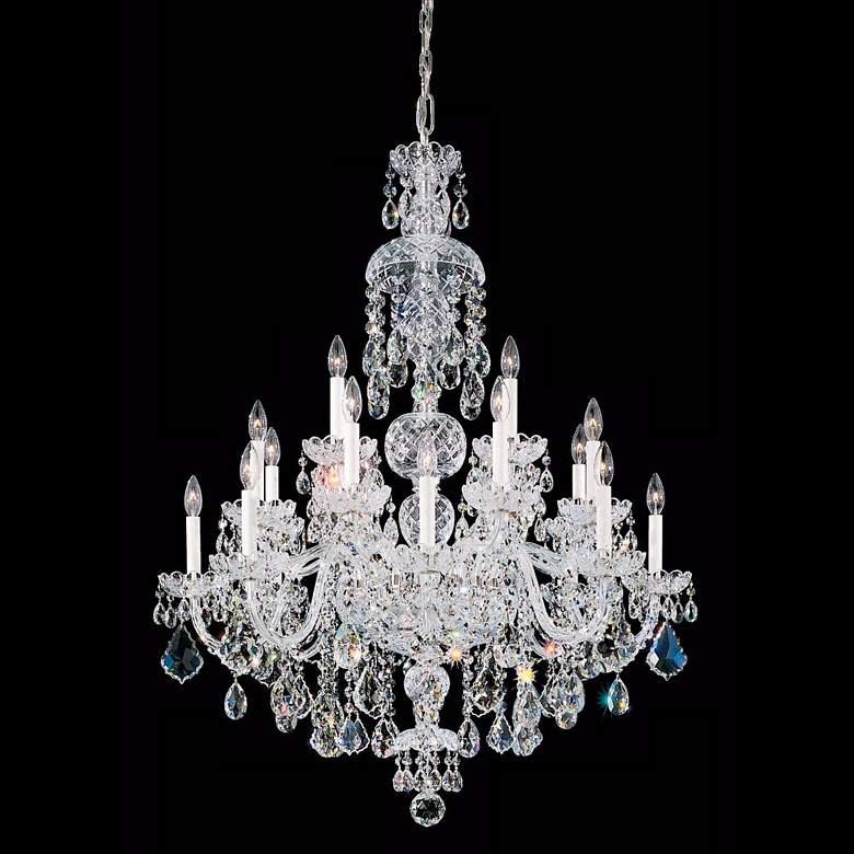 Schonbek Olde World Silver-Elements 25 Light Chandelier