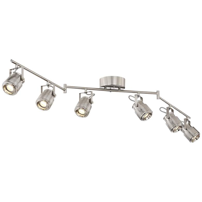 Pro Track Ripple 6-Light Satin Nickel LED Track Kit Light