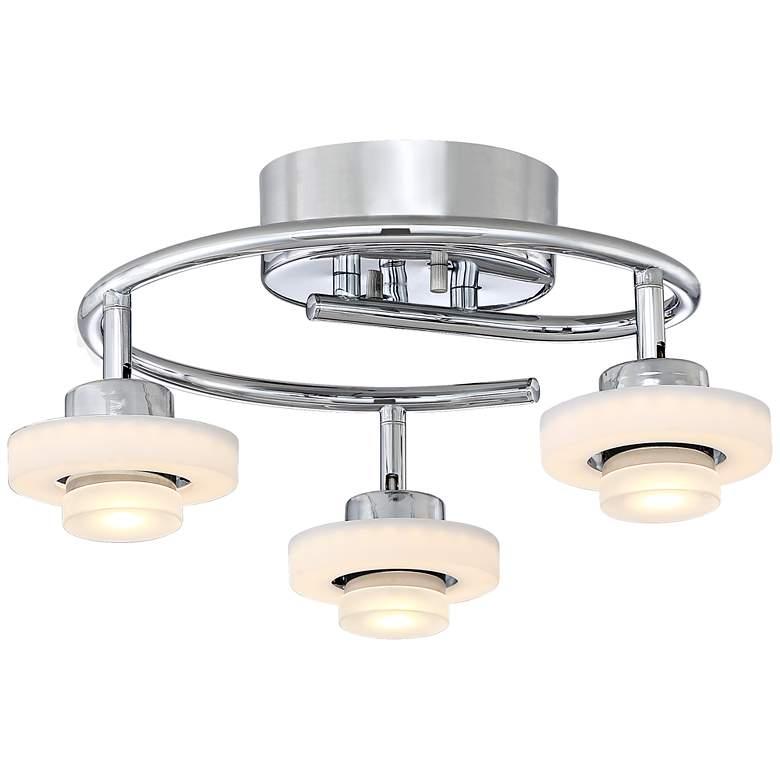Pro Track Circle Ring 3-Light Chrome LED Track Light
