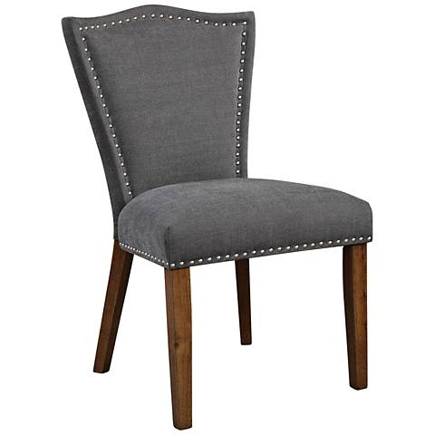 Uttermost Ruhls Gray Blended Fabric Accent Chair