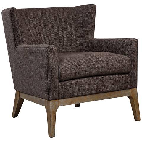 Uttermost Arzo Dark Gray Fabric Accent Armchair