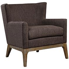 Uttermost Arzo Dark Gray Fabric Accent Armchair