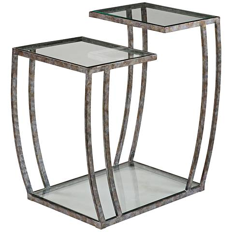 Uttermost Teeranie Burnished Silver Accent Table
