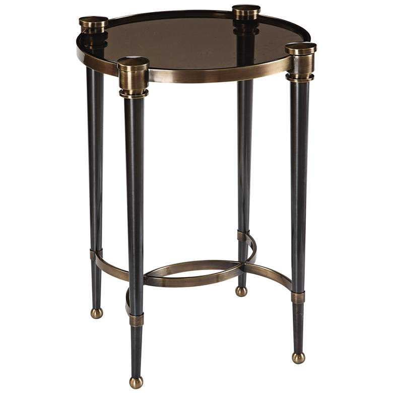 """Thora 18 3/4"""" Wide Brushed Black and Brass"""