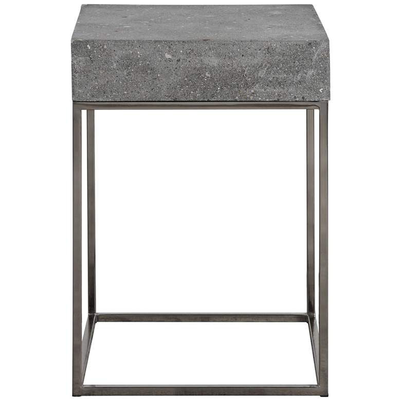 """Jude 14"""" Wide Concrete and Steel Modern Accent Table"""