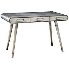 Uttermost Locklear Soft Gray Wash Writing Desk