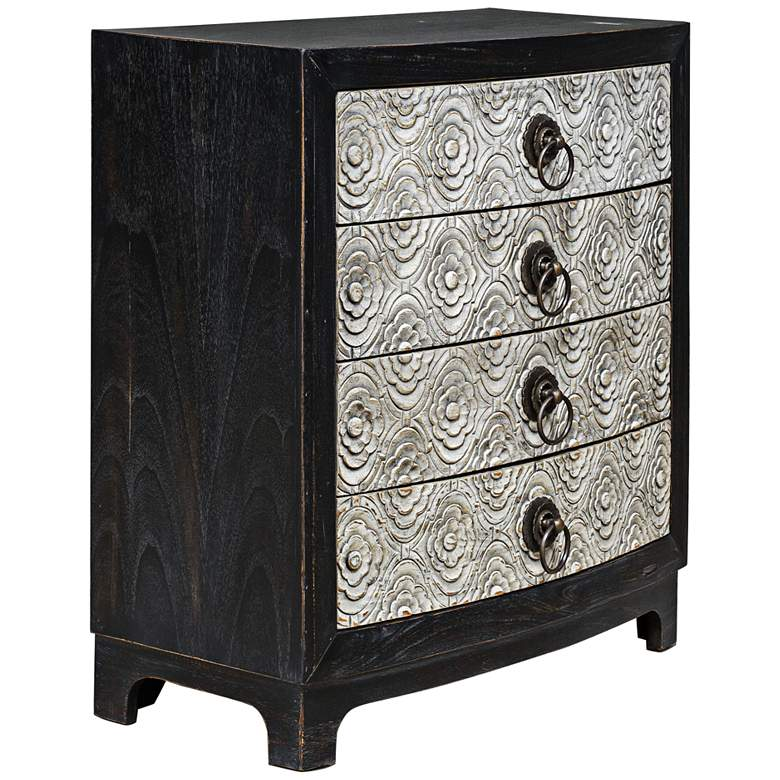 """Uttermost 36"""" Wide Ramila Rubbed Black Accent Chest"""