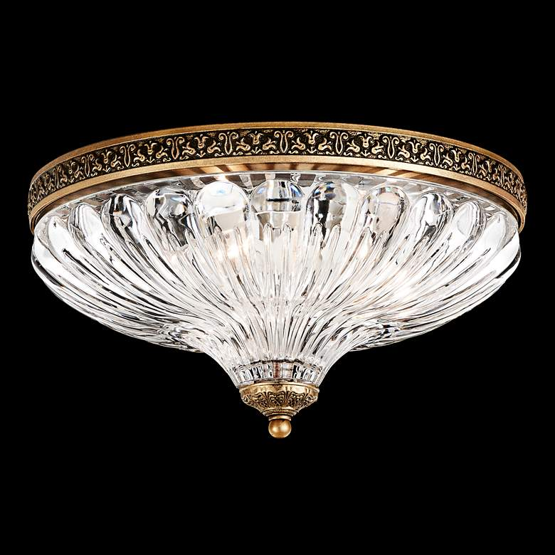 "Schonbek Milano 12""W Florentine Bronze Crystal Ceiling Light"