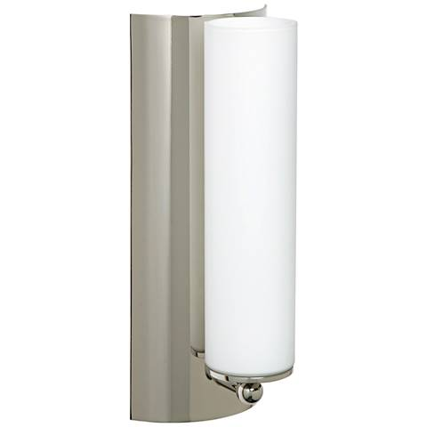 "Besa Metro 12"" High Polished Nickel Wall Sconce"