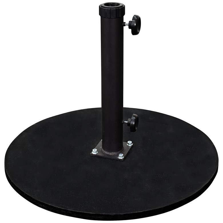 Casper 95 Lb. Black Cast Iron Round Umbrella Base